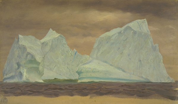 Floating Icebergs under Cloudy Skies, 1859
